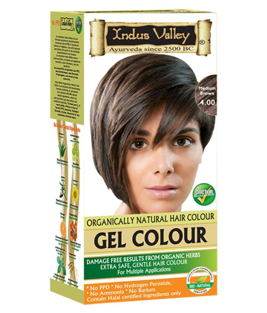 Buy Indus Valley Permanent Gel Herbal Hair Colour Medium Brown online United States of America [ USA ]