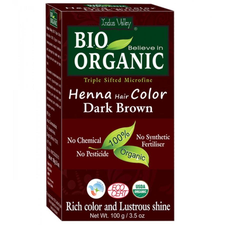Buy Indus Valley Bio Organic Henna Hair Colour Dark Brown online Nederland [ NL ]