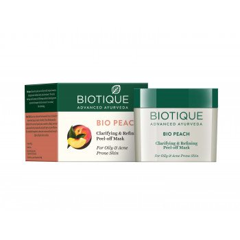 Buy Biotique Bio Peach Clarifying & Refining Peel-Off Mask online United States of America [ USA ]