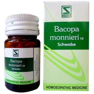 Buy Willmar Schwabe India Bacopa Monnieri 1X Tablets (Brahmi) online United States of America [ USA ]