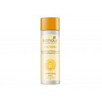 Buy Biotique Bio Vera Face & Body Sun Lotion Spf 75+ online United States of America [ USA ]