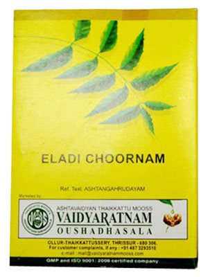Buy Vaidyaratnam Oushadhasala Eladi Choornam online United States of America [ USA ]