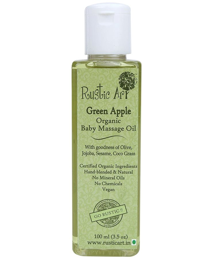 Buy Rustic Art Organic Baby Oil - Green Apple online United States of America [ USA ]