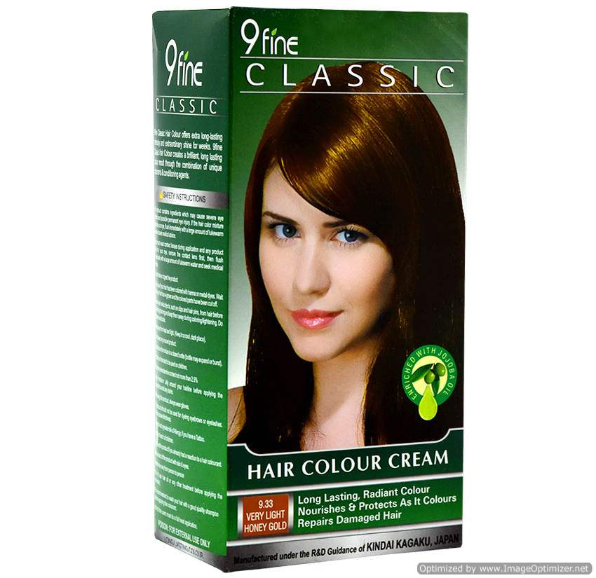 Buy 9Fine Classic Hair Color Cream-9.33 Very Light Honey Gold online United States of America [ USA ]