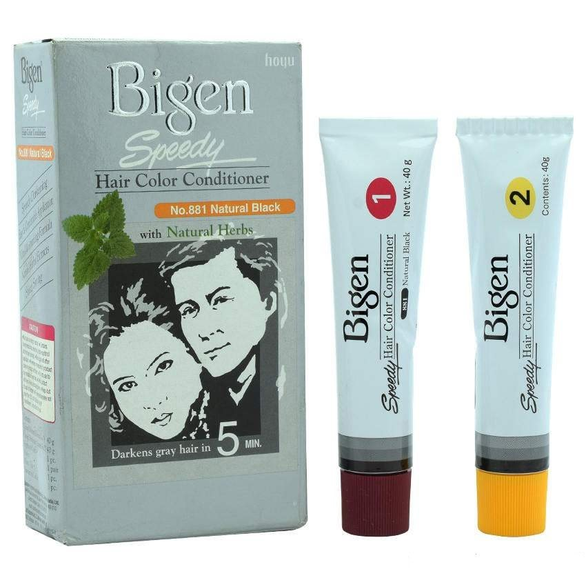Buy Bigen Speedy Hair Color Conditioner - Natural Black 881 online New Zealand [ NZ ]