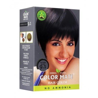 Buy Color Mate Hair Color Powder-Natural Black 9.1 online Singapore [ SG ]