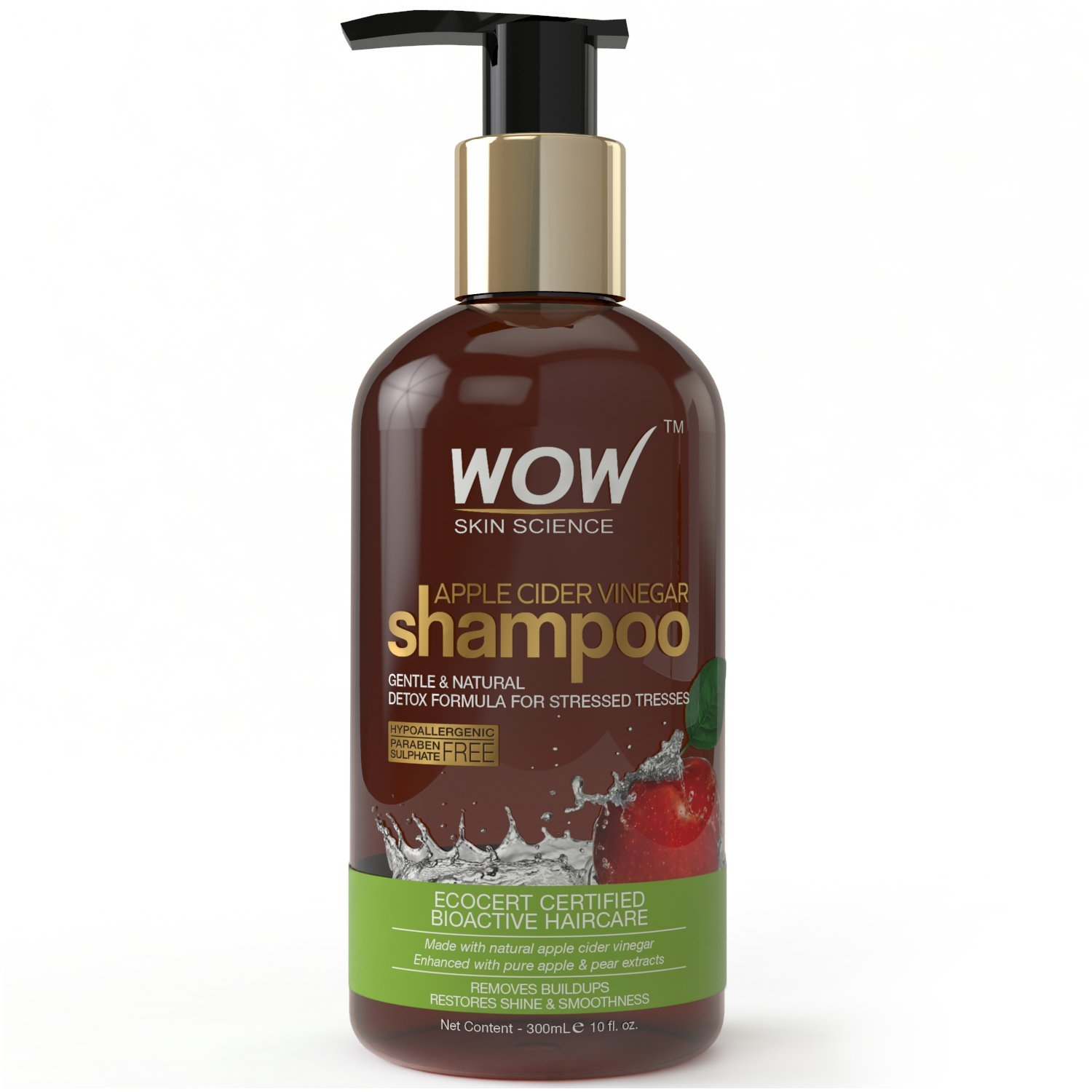 Buy WOW Skin Science Apple Cider Vinegar Shampoo Free Paraben Sulphate online Singapore [ SG ]