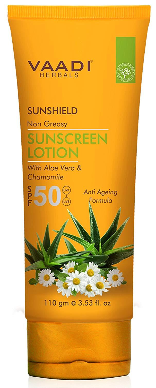 Buy Vaadi Herbals Sunscreen Lotion SPF-50, online Malasiya [ MY ]