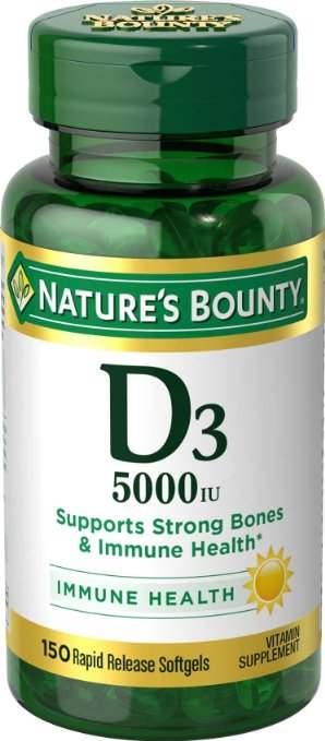 Buy Natures Bounty Maximum Strength Vitamin D3 5000 IU Capsules online New Zealand [ NZ ]